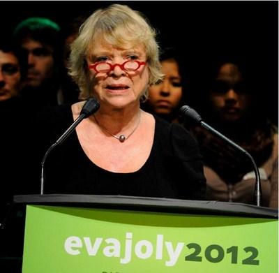 Eva Joly en conférence pour l'élection présidentielle
