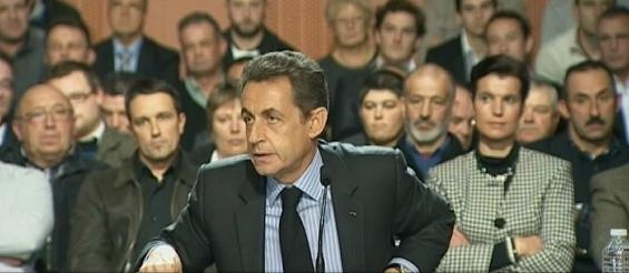 Sarkozy en déplacement dans le Gers