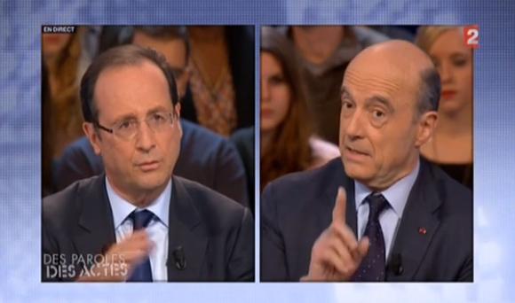 Débat Hollande Juppé