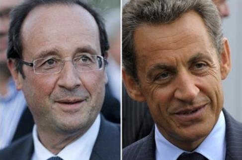 Hollande et Sarkozy lors de la présidentielle 2012