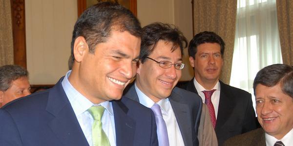 Rafael Correa, président de l'Equateur
