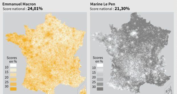 Pr sidentielle une france urbaine et europ enne une autre rurale et eurosceptique elections - Dates elections presidentielles france ...