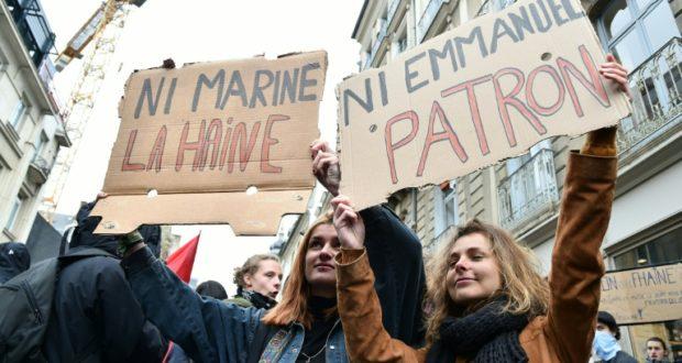 Ni marine ni macron plusieurs milliers de manifestants en france elections - Dates elections presidentielles france ...